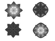 Κυκλικά γεωμετρικά σχέδια Ελεύθερη απεικόνιση δικαιώματος