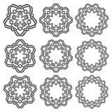 Κυκλικά διακοσμητικά στοιχεία για το σχέδιο Στοκ Εικόνα