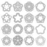 Κυκλικά διακοσμητικά στοιχεία για το σχέδιο Στοκ Εικόνες