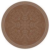 Κυκλικά συμμετρικό floral σχέδιο Στοκ Εικόνα