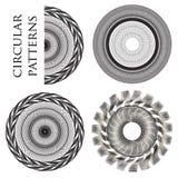 Κυκλικά σχέδια Monohrome Στοκ φωτογραφίες με δικαίωμα ελεύθερης χρήσης