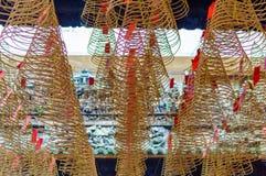 Κυκλικά incenses στον κινεζικό ναό Στοκ Φωτογραφίες