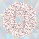 Κυκλική διακόσμηση στο ελληνικό ύφος Στοκ Εικόνες