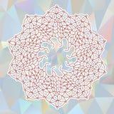Κυκλική πλεκτή διακόσμηση Στοκ Εικόνες