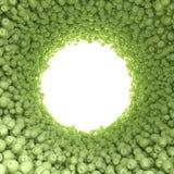 Κυκλική σήραγγα των πράσινων μήλων Στοκ εικόνα με δικαίωμα ελεύθερης χρήσης