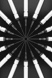 Κυκλική σειρά υποδερμικών βελόνων στο Μαύρο Στοκ Εικόνες
