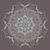 Κυκλική floral διακόσμηση Στοκ Εικόνα