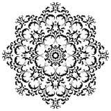 Κυκλική floral Henna Mehndi διακοσμήσεων δερματοστιξία Mandala Στοκ φωτογραφία με δικαίωμα ελεύθερης χρήσης
