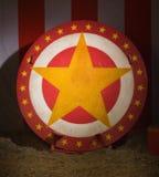 Κυκλικός δίσκος με το αστέρι στοκ φωτογραφία