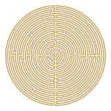 Κυκλικός λαβύρινθος Στοκ Εικόνα