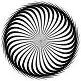 Κυκλικός, ακτινοβολώντας την αφηρημένη μορφή, μοτίβο Γεωμετρικό σχέδιο elem διανυσματική απεικόνιση