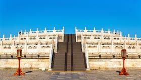 Κυκλικός βωμός αναχωμάτων στο ναό του ουρανού στο Πεκίνο στοκ εικόνες