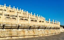 Κυκλικός βωμός αναχωμάτων στο ναό του ουρανού στο Πεκίνο στοκ φωτογραφίες