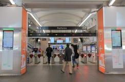 Κυκλικός σταθμός τρένου Αυστραλία αποβαθρών του Σίδνεϊ στοκ εικόνα με δικαίωμα ελεύθερης χρήσης