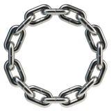 Κυκλικό δαχτυλίδι αλυσίδων Στοκ φωτογραφία με δικαίωμα ελεύθερης χρήσης