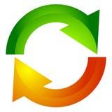 Κυκλικό βέλος, εικονίδιο βελών κύκλων Περιστροφή, καινούριο ξεκίνημα, συστροφή, tur απεικόνιση αποθεμάτων