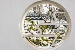Κυκλικό κοίλο έξω παράθυρο Στοκ εικόνες με δικαίωμα ελεύθερης χρήσης