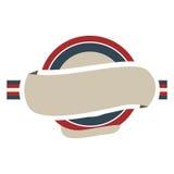 κυκλικό πλαίσιο με τη σημαία Ηνωμένο Βασίλειο χρώματος και την ετικέτα διανυσματική απεικόνιση