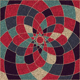 Κυκλικό σχέδιο πολύχρωμου γεωμετρικού απεικόνιση αποθεμάτων