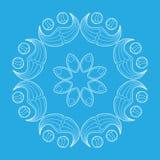 Κυκλικό σχέδιο, snowflake Στοκ Εικόνα