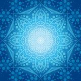 Κυκλικό υπόβαθρο λουλουδιών Ένα τυποποιημένο σχέδιο mandala Τυποποιημένη διακόσμηση δαντελλών Ινδική floral διακόσμηση Στοκ Εικόνες