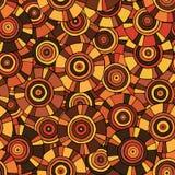 Κυκλικό, φυλετικό σχέδιο με τα μοτίβα των αφρικανικών φυλών Surma και Mursi Στοκ εικόνα με δικαίωμα ελεύθερης χρήσης