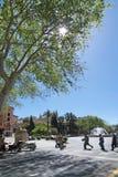 Κυκλοφορία από Plaza de Λα Reina Στοκ Εικόνα