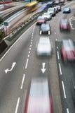 Κυκλοφορία αυτοκινητόδρομων στη θαμπάδα κινήσεων Στοκ φωτογραφία με δικαίωμα ελεύθερης χρήσης