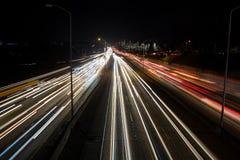 Κυκλοφορία αυτοκινητόδρομων του Σιάτλ στη ώρα κυκλοφοριακής αιχμής Στοκ Εικόνες