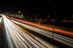 Κυκλοφορία αυτοκινητόδρομων του Σιάτλ στη ώρα κυκλοφοριακής αιχμής Στοκ Φωτογραφίες