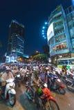Κυκλοφορία βραδιού σε Saigon Στοκ εικόνα με δικαίωμα ελεύθερης χρήσης