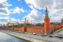 Κυκλοφορία κοντά στο Κρεμλίνο στη Μόσχα Στοκ Φωτογραφίες