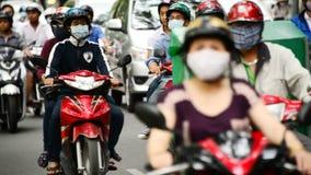 Κυκλοφορία μοτοποδηλάτων στη στο κέντρο της πόλης ημέρα πόλεων Χο Τσι Μινχ - Βιετνάμ