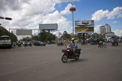 Κυκλοφορία οδών σε Pnom Penh Στοκ εικόνες με δικαίωμα ελεύθερης χρήσης