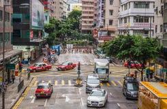 Κυκλοφορία οδών στο Χονγκ Κονγκ στοκ φωτογραφία