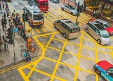 Κυκλοφορία οδών στο Χονγκ Κονγκ στοκ εικόνα