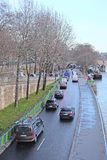 Κυκλοφορία σε ένα Sena ανάχωμα στο Παρίσι Στοκ εικόνα με δικαίωμα ελεύθερης χρήσης