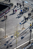 Κυκλοφορία σε Plaza Espana, ένα από το σημαντικότερο τετράγωνο Στοκ εικόνες με δικαίωμα ελεύθερης χρήσης