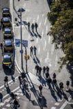 Κυκλοφορία σε Plaza Espana Στοκ εικόνες με δικαίωμα ελεύθερης χρήσης