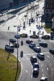 Κυκλοφορία σε Plaza Espana Στοκ Φωτογραφία