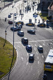 Κυκλοφορία σε Plaza Espana Στοκ εικόνα με δικαίωμα ελεύθερης χρήσης