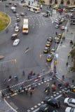 Κυκλοφορία σε Plaza Espana Στοκ Εικόνα