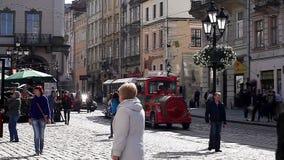 Κυκλοφορία στην οδό πόλεων απόθεμα βίντεο