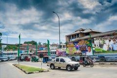 Κυκλοφορία στην οδό στην πόλη στη Σρι Λάνκα Στοκ εικόνα με δικαίωμα ελεύθερης χρήσης