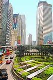 Κυκλοφορία στην οδό στο Χονγκ Κονγκ Στοκ Εικόνες