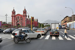 Κυκλοφορία στην οδό της Λίμα, Περού Στοκ Φωτογραφίες