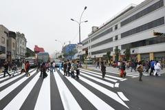Κυκλοφορία στην οδό της Λίμα, Περού Στοκ εικόνες με δικαίωμα ελεύθερης χρήσης