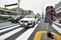 Κυκλοφορία στην οδό της Λίμα, Περού Στοκ Φωτογραφία