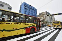 Κυκλοφορία στην οδό της Λίμα, Περού Στοκ εικόνα με δικαίωμα ελεύθερης χρήσης