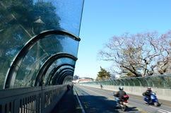 Κυκλοφορία στη γέφυρα Grafton στο Ώκλαντ, Νέα Ζηλανδία Στοκ εικόνα με δικαίωμα ελεύθερης χρήσης